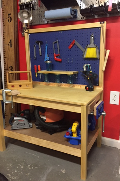 Magnificent Diy Kids Workbench Free Step By Step Build Plans Copewood Frankydiablos Diy Chair Ideas Frankydiabloscom