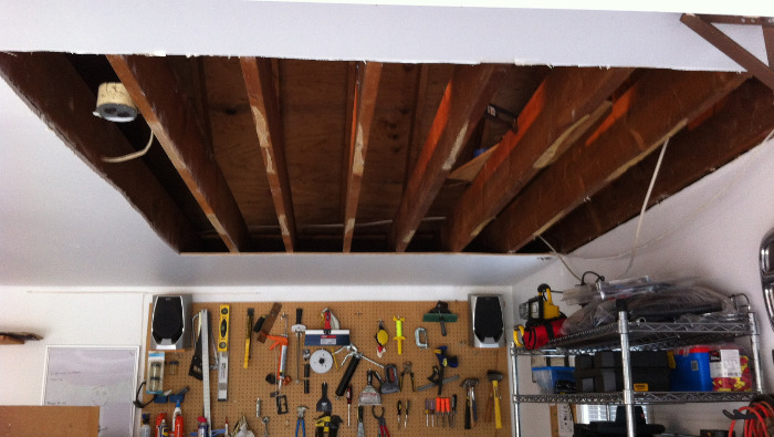 Convert unused garage attic space to storage copewood top tip if this is a project you are considering undertaking keep in mind that youll need to hoist up the sheets of plywood flooring after creating your solutioingenieria Choice Image
